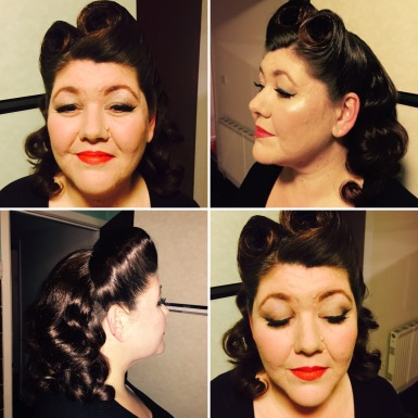 1940's victory rolls and make-up