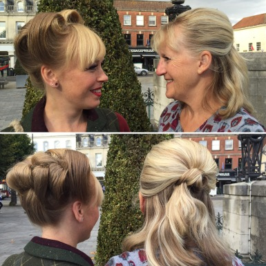 Mother and daughter updo's