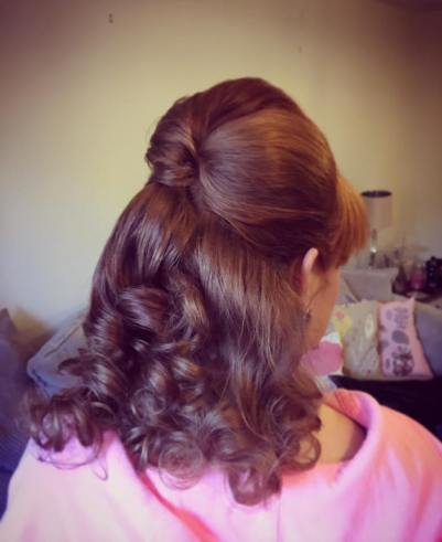 Half beehive and curls