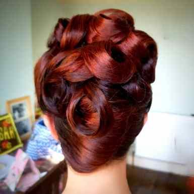 Rockabilly updo