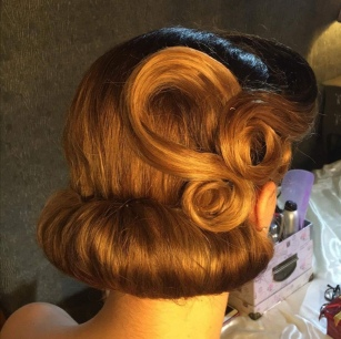 Swirly updo and tuck